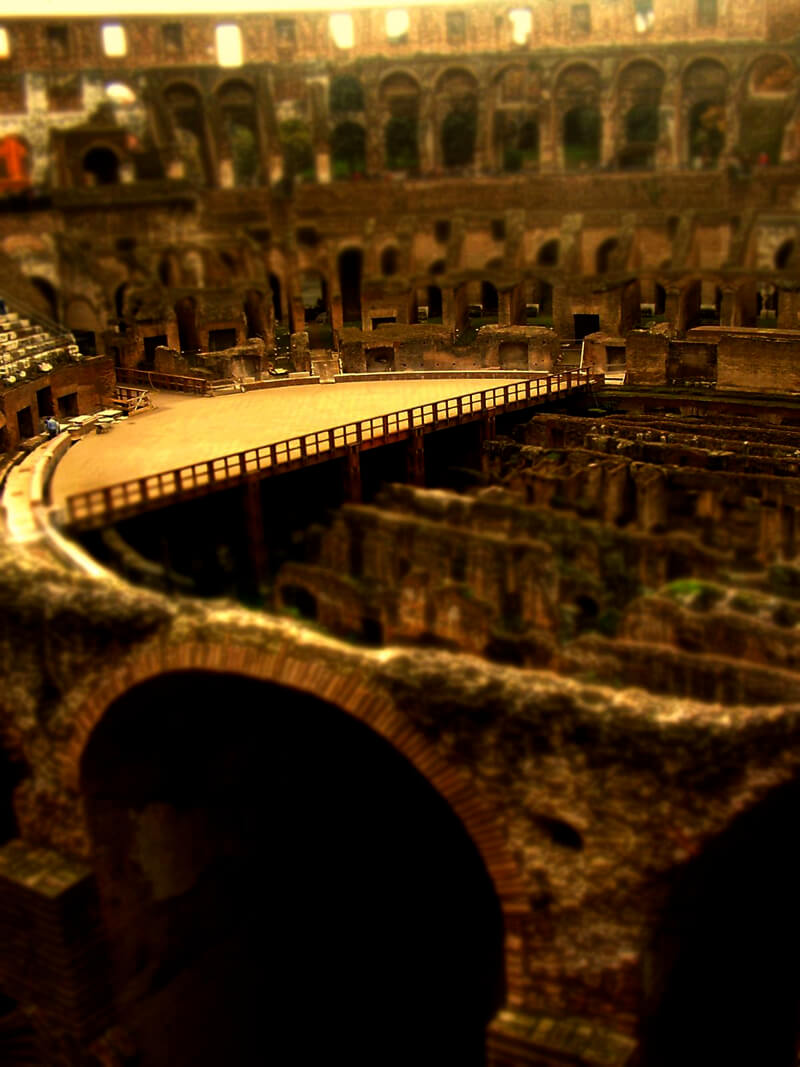 tilt shift colosseum