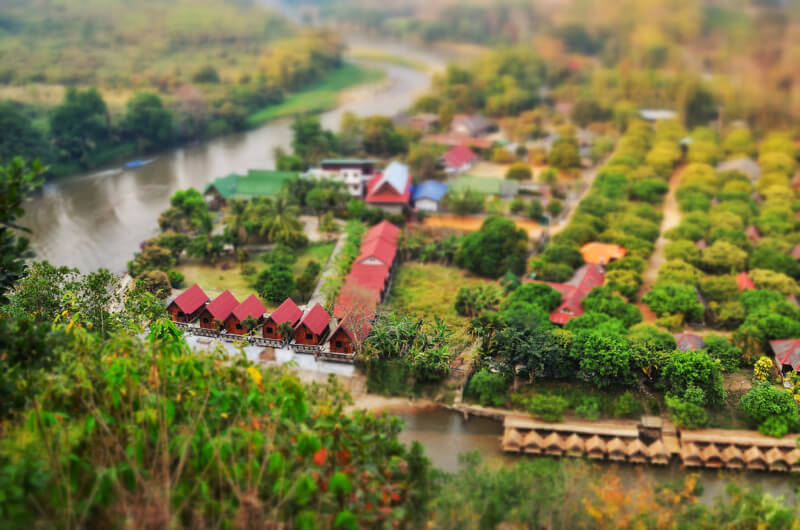 tilt shift The Mae Hong Son loop, North Thailand