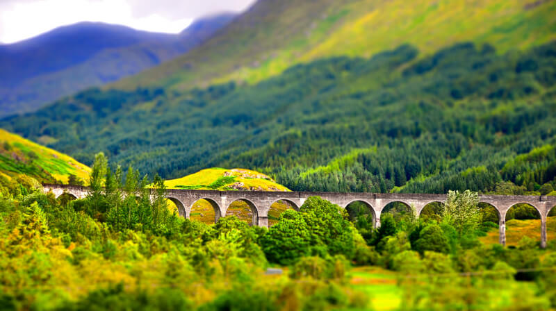 tilt shift viaduct