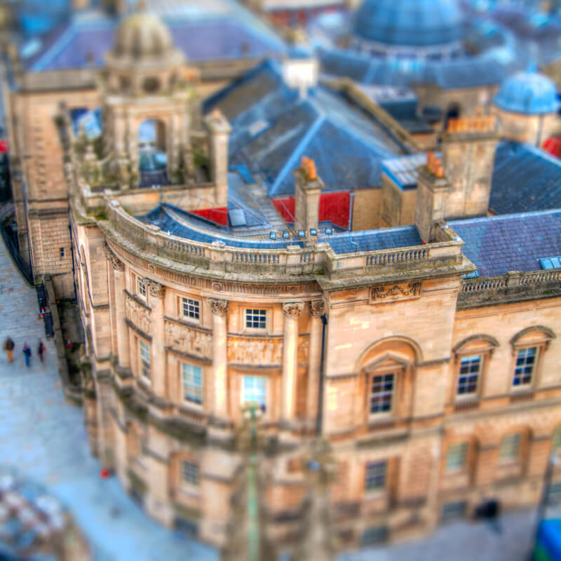 tilt shift bath