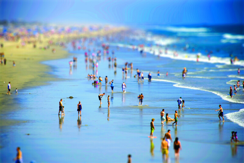 tilt shift huntington beach