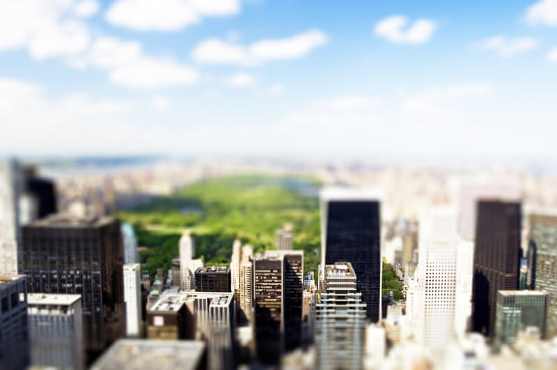 tilt shift manhattan