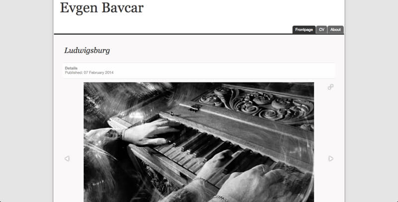 Blind photographer Evgen Bavcar