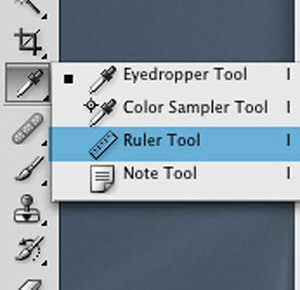 Photoshop Ruler Tool