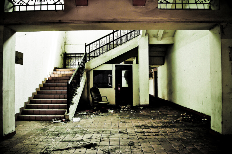 urban decay in malyasia staircase