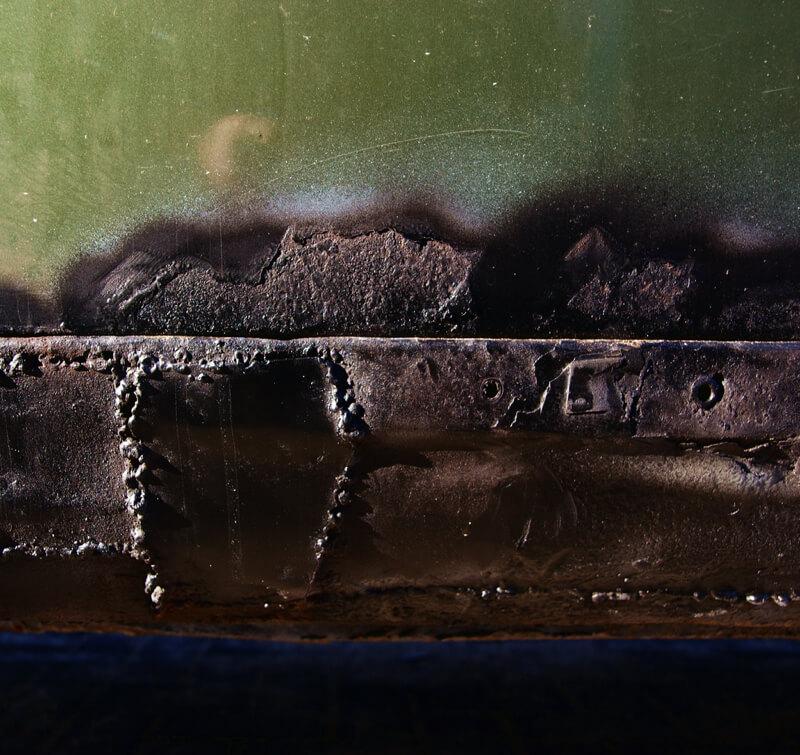 urban decay rust on car