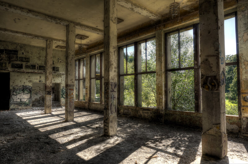 urban decay socialist recreation home in east germany