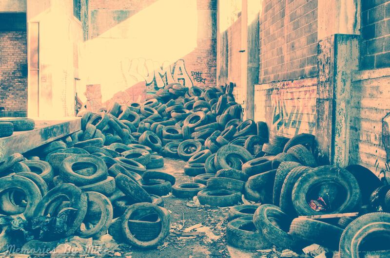urban decay detroit tires in the street