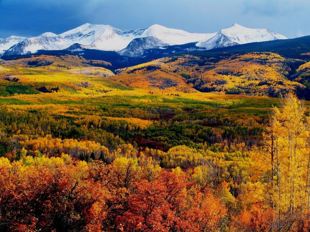 mellowrapp - Autumn Mountains. Crested Butte mountains in full autumn colors.