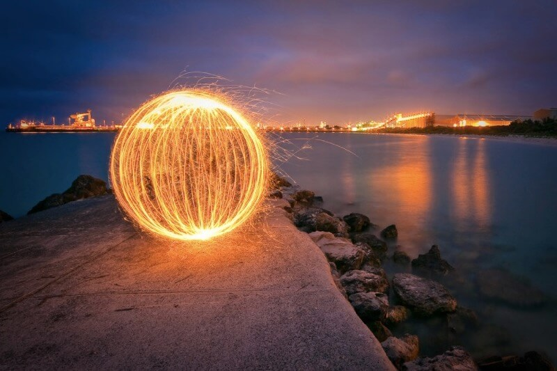 Stephen Humpleby light painting