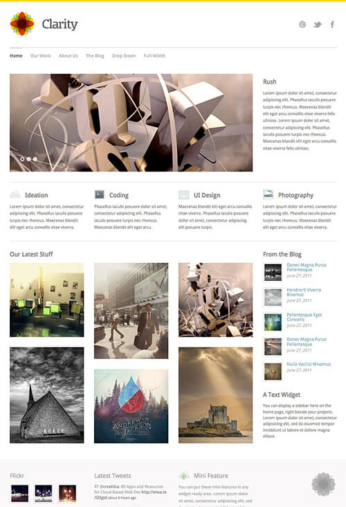 Clarity portfolio wordpress theme