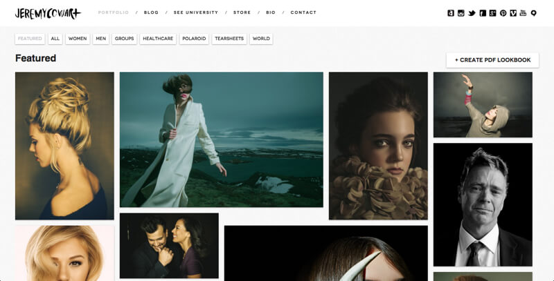 Photography Portfolio website Jeremy Cowart