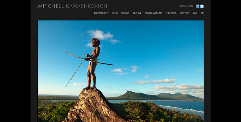 Photography portfolio website Mitchell Kanashkevich