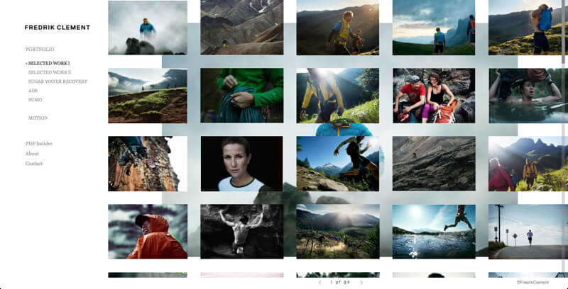 Photography portfolio website Frederik Clement