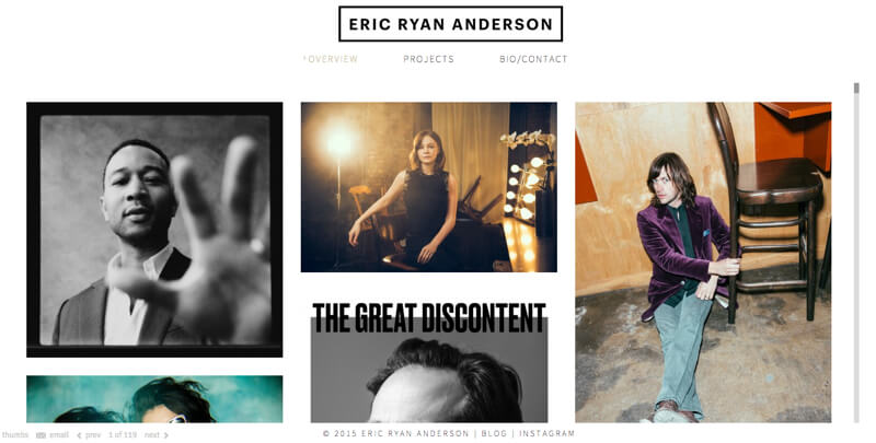 photographer portfolio website eric ryan anderson