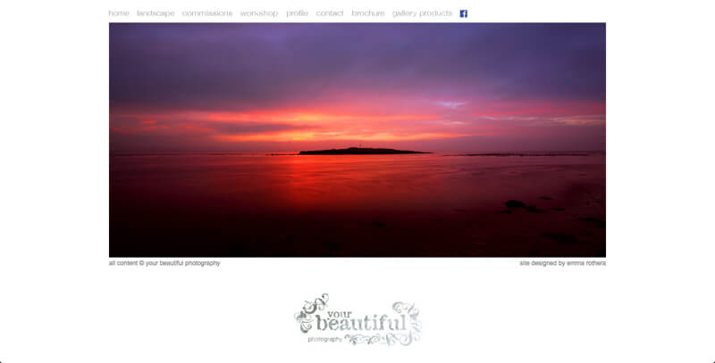 Photographer portfolio website your beautiful photography