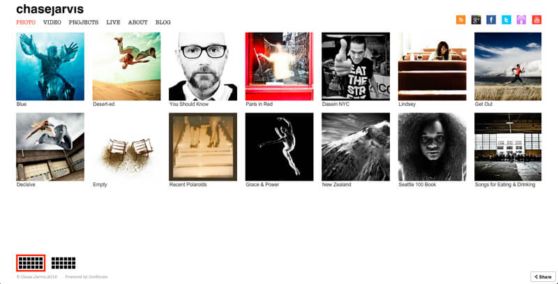 Photographer portfolio website chase jarvis