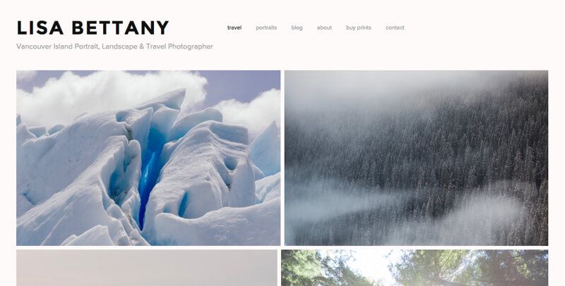 photographer portfolio website lisa bettany