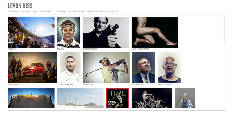 photographer portfolio website levon biss