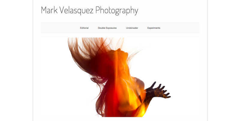 photographer portfolio website mark velasquez