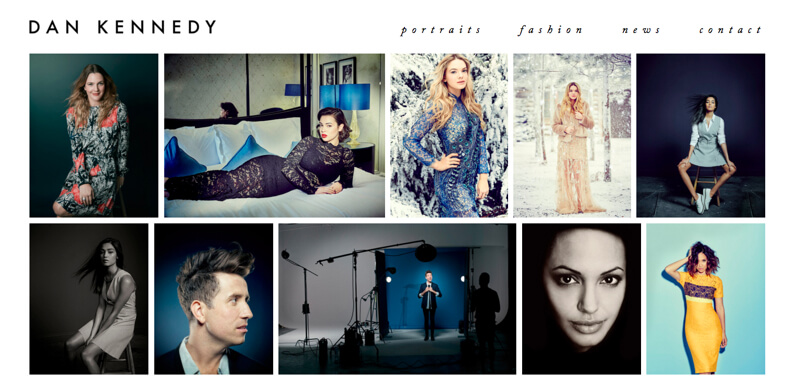 photographer portfolio website daniel kennedy