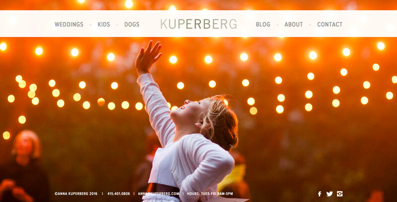 photographer portfolio website anna kuperberg