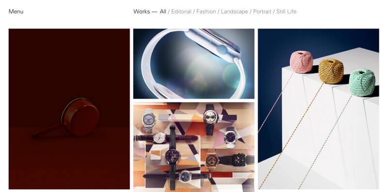 photographer portfolio website james day
