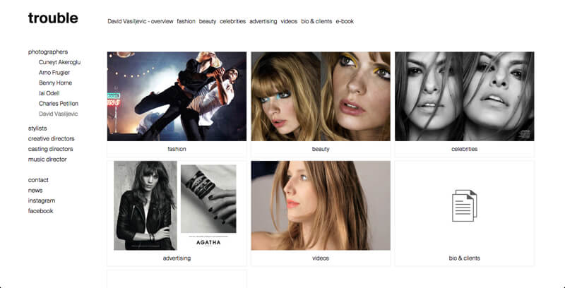 photographer portfolio website David Vasiljevic