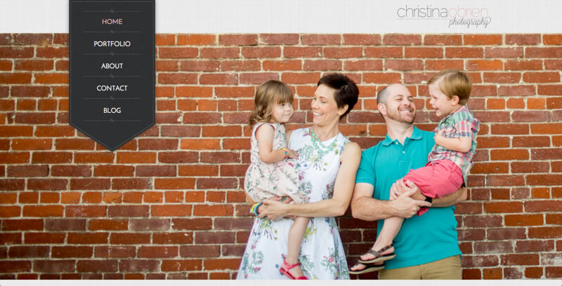 photographer portfolio website christina obrien