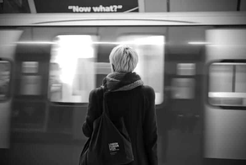 black and white metro