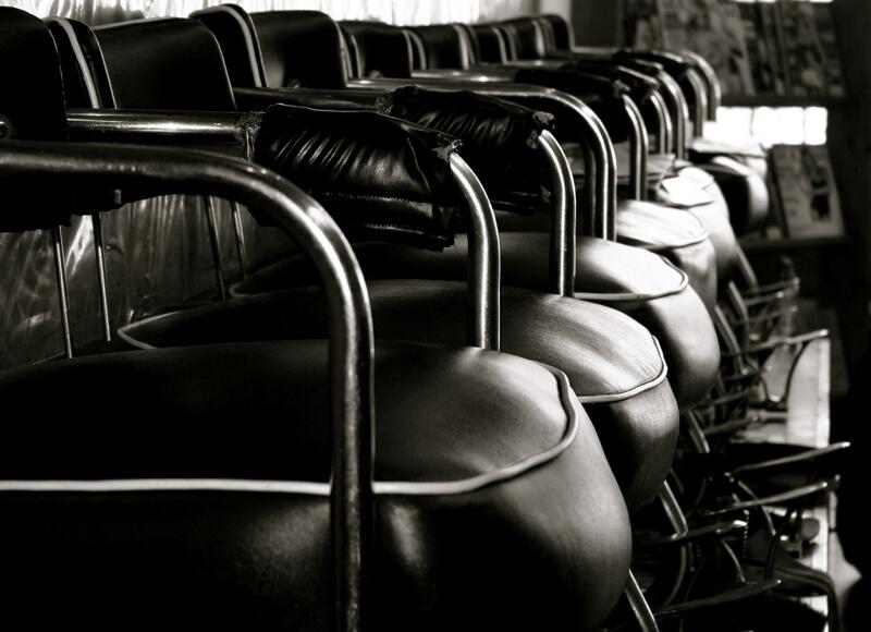 black and white shoe shine shop