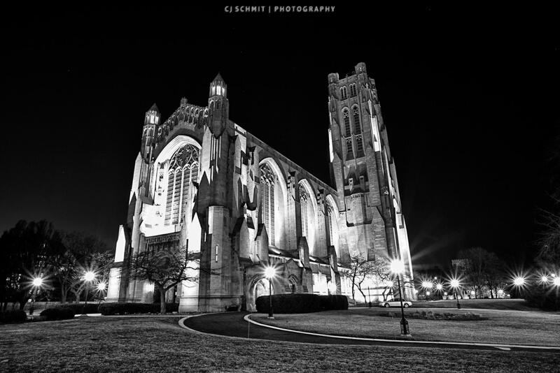 black and white rockefeller chapeler chapel