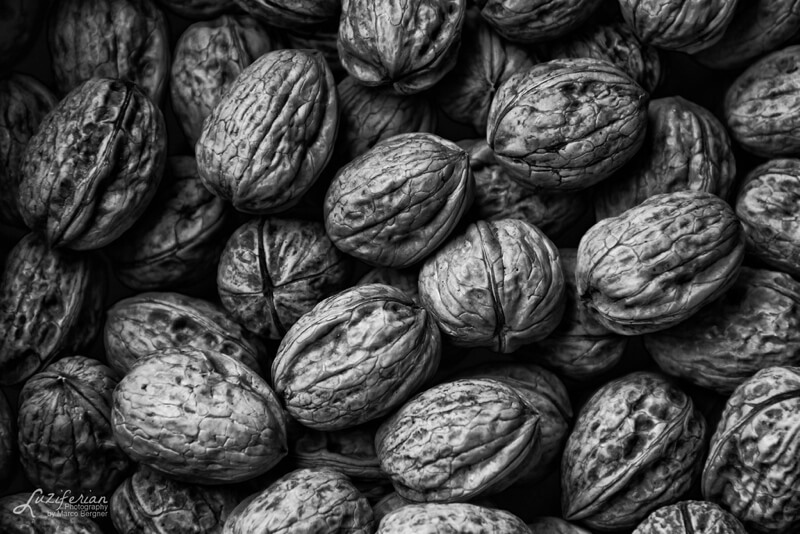 black and white walnuts