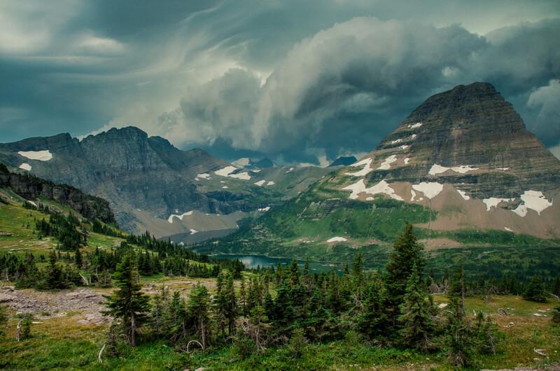 mountains glacier national park
