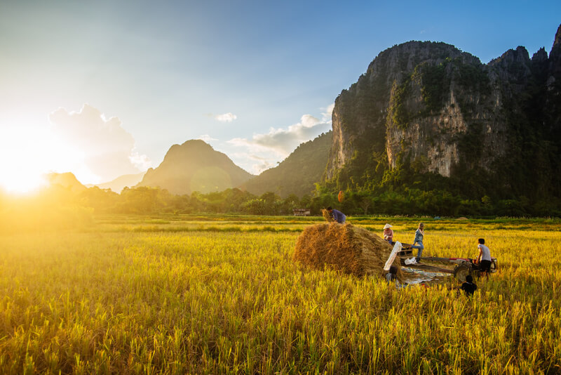 mountains laos