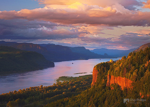 Columbia-River-Gorge-at-Sunset-M