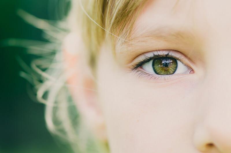 portrait of child eye