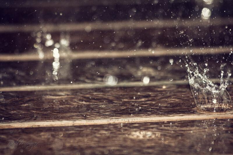 rain in the street
