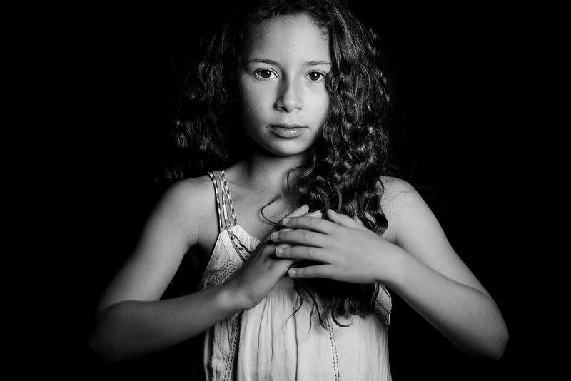 soft portrait of girl
