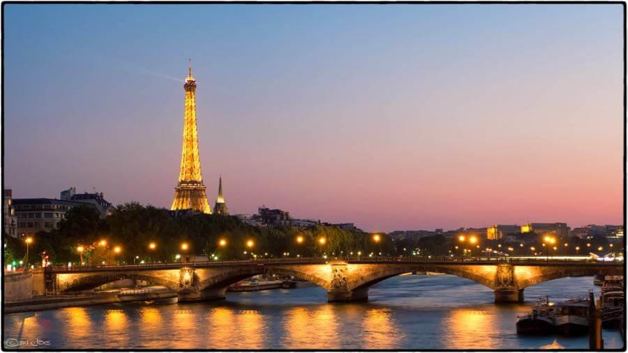 Joe deSousa - Eiffel Tower sunset, Paris