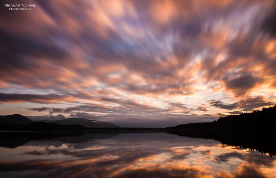 Graham Norrie - Sunset at the Loch