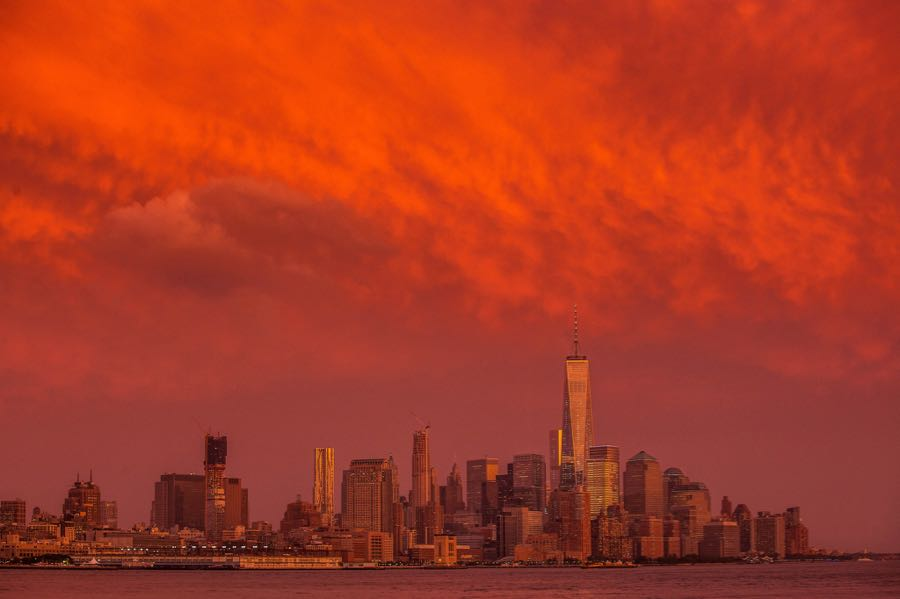 Anthony Quintano - New York City Stormy Sunset
