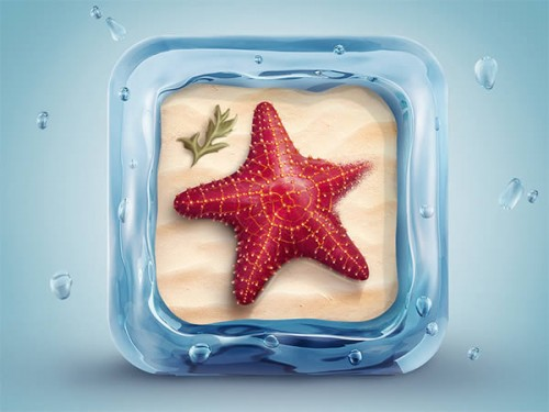 3D Starfish Icon