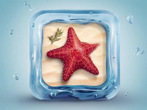 3D Starfish Icon