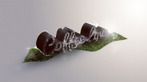 Create Unique 3D Grass and Stone Text Effect in Photoshop