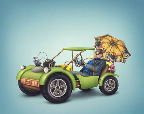 Create a Colorful Dune Buggy Illustration in Photoshop