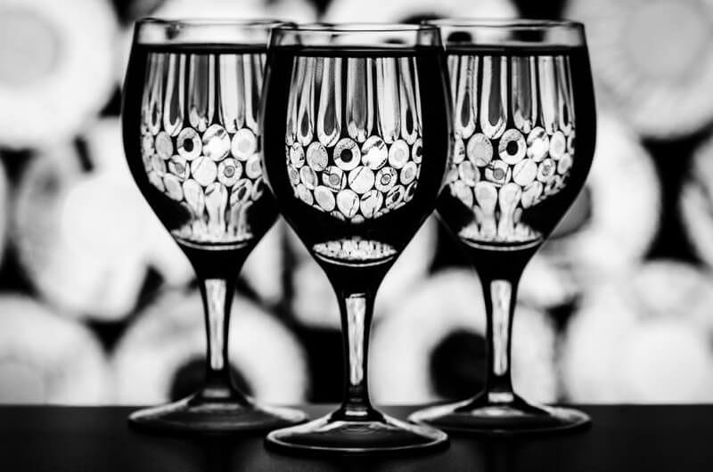 Still life photography three glasses