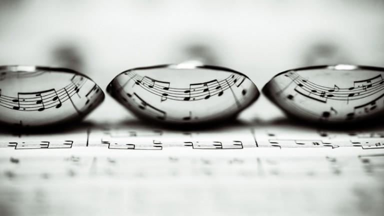 still life lenses on sheet music