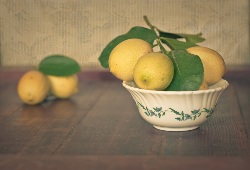 still life photography lemons