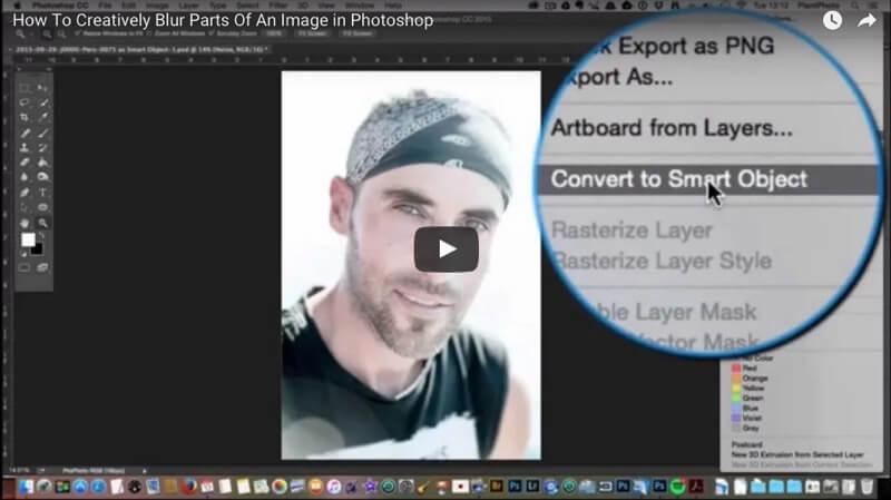 Photoshop Tutorial Blur